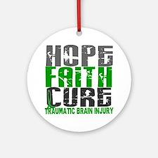 Hope Faith Cure TBI Ornament (Round)