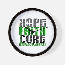 Hope Faith Cure TBI Wall Clock