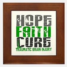 Hope Faith Cure TBI Framed Tile