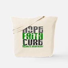 Hope Faith Cure TBI Tote Bag