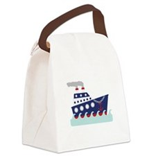 Giant Ship Canvas Lunch Bag