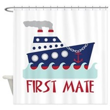 FIRST MATE Shower Curtain
