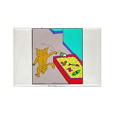 CAT LITTER BOX Rectangle Magnet