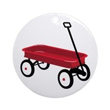 Red Wagon Ornament (Round)