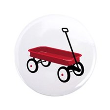 """Red Wagon 3.5"""" Button"""