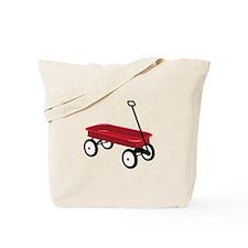 Red Wagon Tote Bag
