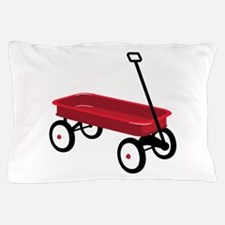 Red Wagon Pillow Case