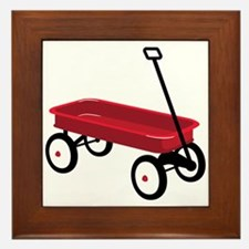 Red Wagon Framed Tile