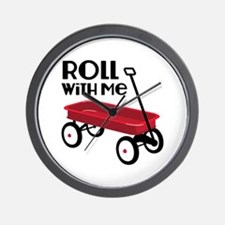 ROLL WiTH Me Wall Clock