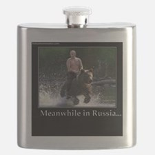 Vladimir Putin Riding A Bear Flask