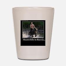 Vladimir Putin Riding A Bear Shot Glass