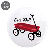 """Lets Roll 3.5"""" Button (10 pack)"""