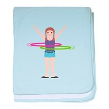 Hula Hooping baby blanket