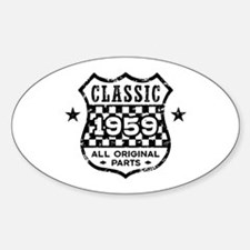 Classic 1959 Sticker (Oval)