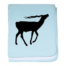 Gazelle Silhouette baby blanket
