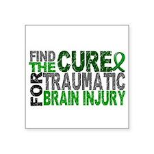 "Find the Cure TBI Square Sticker 3"" x 3"""