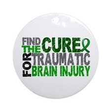 Find the Cure TBI Ornament (Round)