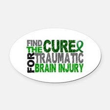 Find the Cure TBI Oval Car Magnet