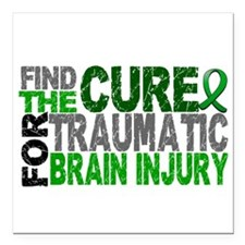 """Find the Cure TBI Square Car Magnet 3"""" x 3"""""""