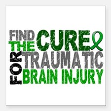 "Find the Cure TBI Square Car Magnet 3"" x 3"""
