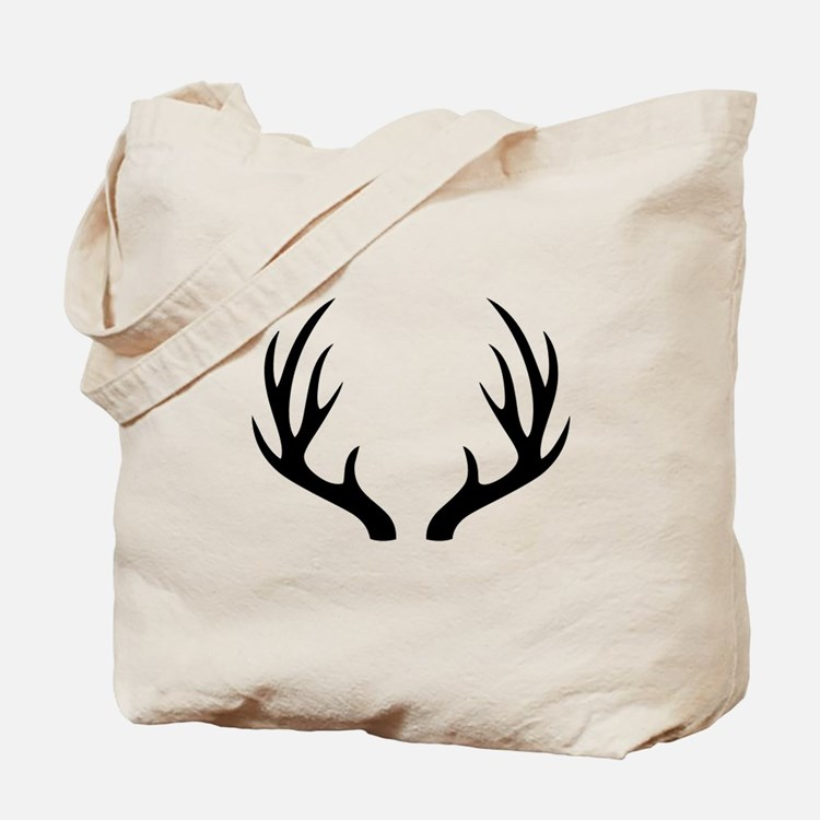 12 Point Deer Antlers Tote Bag