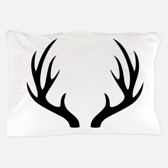 12 Point Deer Antlers Pillow Case