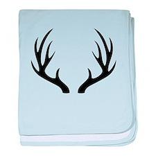 12 Point Deer Antlers baby blanket