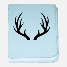 12 Point Deer Antlers baby blanket