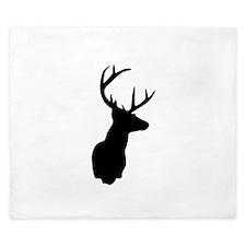 Buck Hunting Trophy Silhouette King Duvet