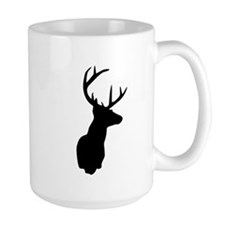 Buck Hunting Trophy Silhouette Mugs