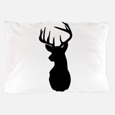 Buck Hunting Trophy Silhouette Pillow Case