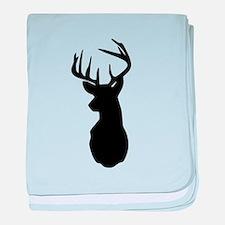 Buck Hunting Trophy Silhouette baby blanket