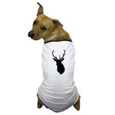 Buck Hunting Trophy Silhouette Dog T-Shirt