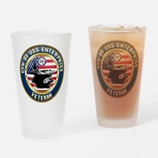 CVN-65 Enterprise Veteran Drinking Glass