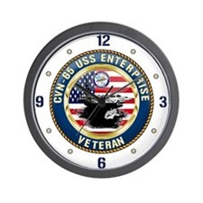 CVN-65 Enterprise Veteran Wall Clock