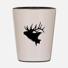 Elk Head Shot Glass