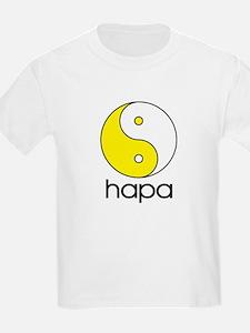 Hapa Yin-Yang (Large Logo) Kids T-Shirt