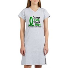 Courage Faith 1 TBI Women's Nightshirt