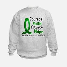 Courage Faith 1 TBI Sweatshirt