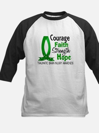 Courage Faith 1 TBI Kids Baseball Jersey