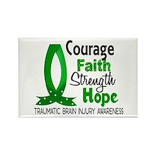 Courage Faith 1 TBI Rectangle Magnet