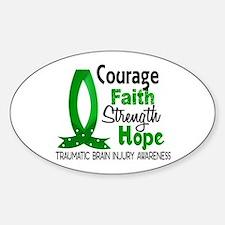Courage Faith 1 TBI Decal