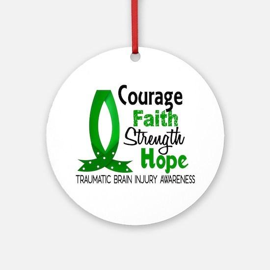 Courage Faith 1 TBI Ornament (Round)
