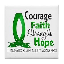 Courage Faith 1 TBI Tile Coaster
