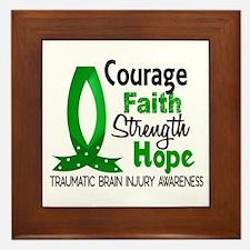Courage Faith 1 TBI Framed Tile