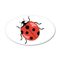 Red Ladybug Wall Decal