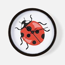 Red Ladybug Wall Clock