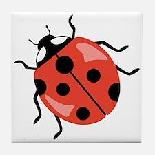 Red Ladybug Tile Coaster