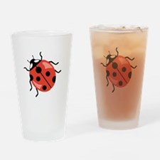 Red Ladybug Drinking Glass