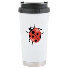 Red Ladybug Travel Mug